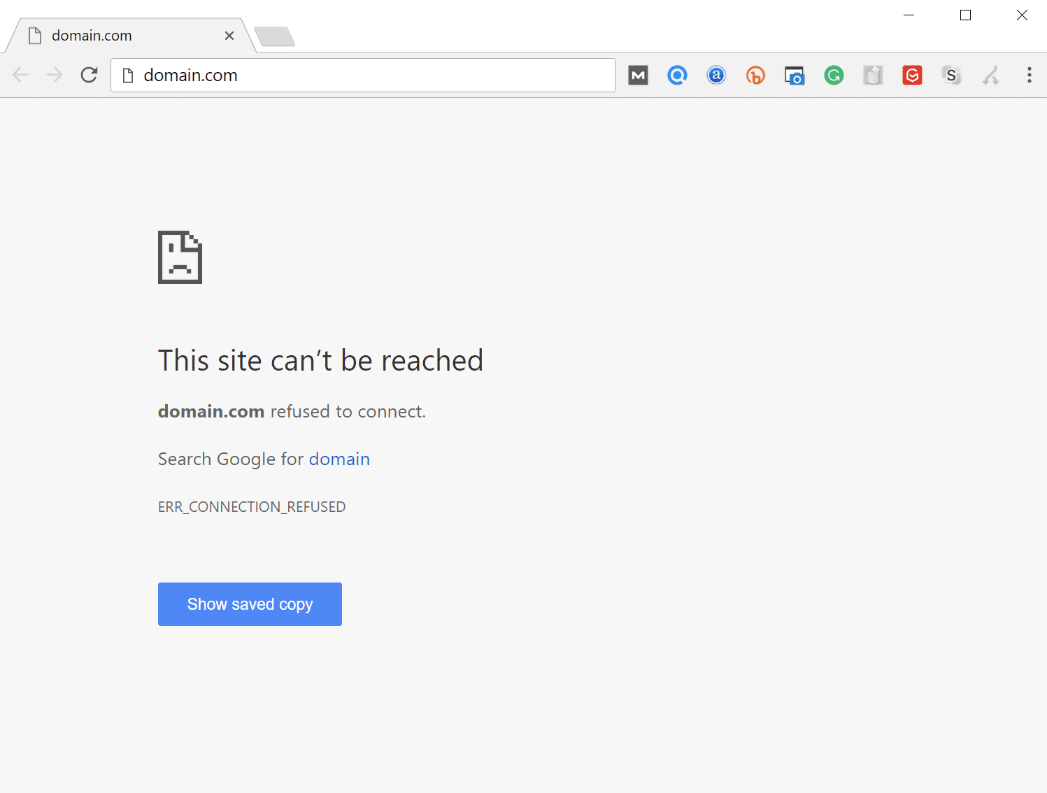 NET::ERR_CONNECTION_REFUSED Error