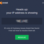 Avast Says My IP Address is Visible